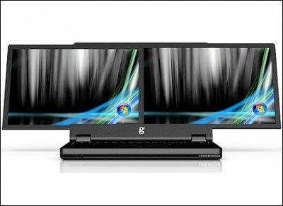 Разработан ноутбук с двумя полноценными дисплеями