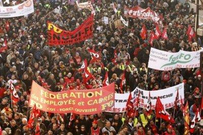 Профсоюзы Франции призвали к национальной акции протеста 7 октября