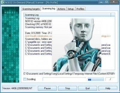 NOD32 On-Demand Scanner 16.10.2009 v.4516