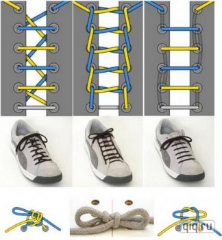 Новые способы шнуровки ботинок