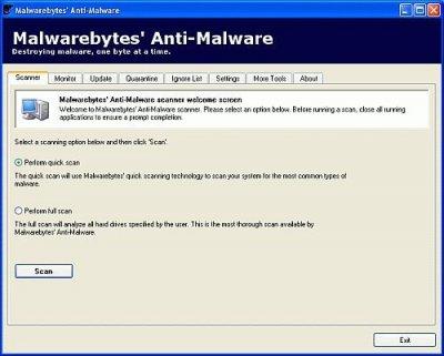 Malwarebytes Anti-Malware 1.41