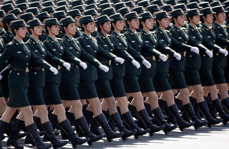 Солдаты наземных войск китайской