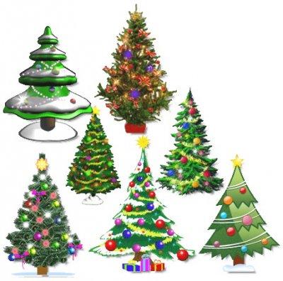 Анимационные новогодние елки на рабочий стол