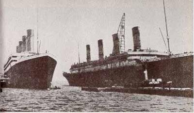 Роковая судьба кораблей-близнецов - Олимпик, Титаник, Британник...