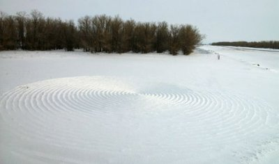 Круги на казахском снегу