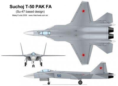 Характеристики российского истребителя пятого поколения Т-50