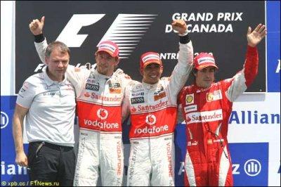 Гран При Канады: Хэмилтон - Баттон - Алонсо