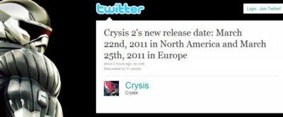Дата выхода Crysis 2