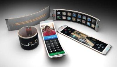 Philips Fluid – концепт телефона-браслета с гибким OLED-экраном