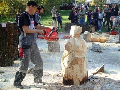 В Чебоксарах проходил I Межрегиональный фестиваль резьбы бензопилой