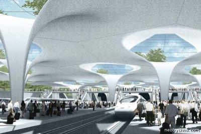 Концепт станции для скоростных поездов