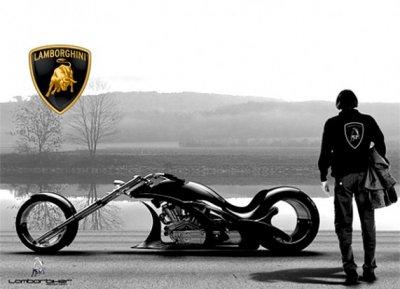 Концепт мотоцикла Lamborghini (4 фото)