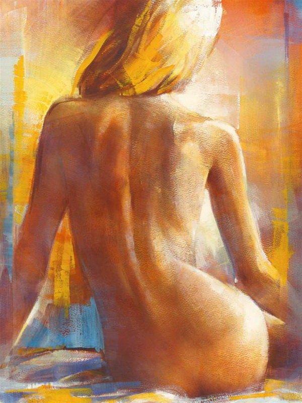 """Постер """"Девушка с обнаженной спиной"""", 40 см х 50 см."""