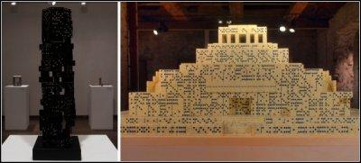 Небоскребы и мавзолеи из домино (5 фото)