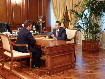 Встреча Президента Чувашии  с председателем правления ОАО «Газпром» Алексеем Миллером