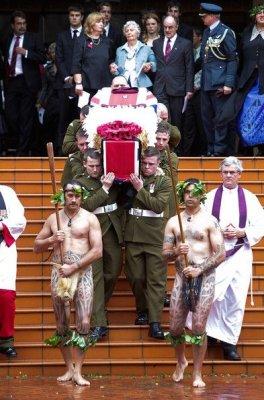 Похороны солдата из Новой Зеландии (19 фото)