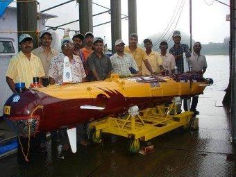 Индия проведет испытания собственного подводного робота