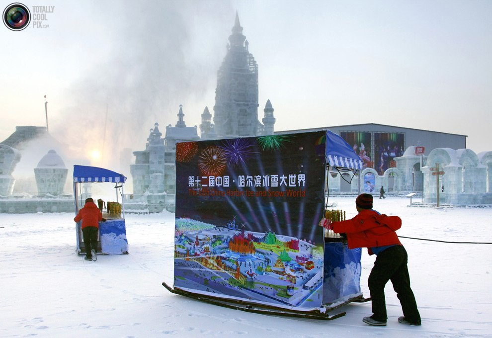 27-ой Харбинский Фестиваль скульптур из льда и снега начался 5 января
