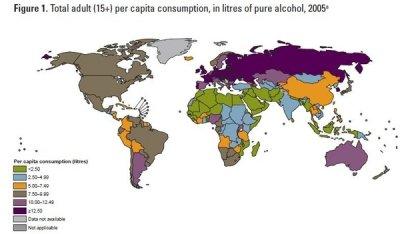 Самой пьющей страной оказалась Молдавия