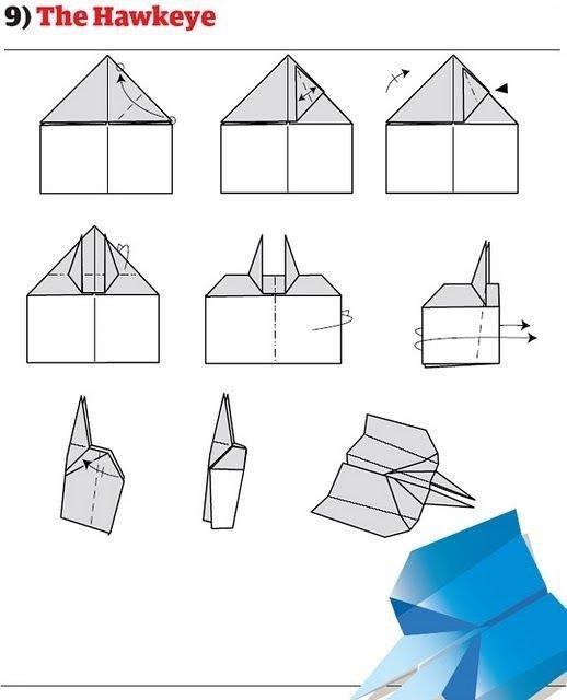 бумага, самолеты, оригами