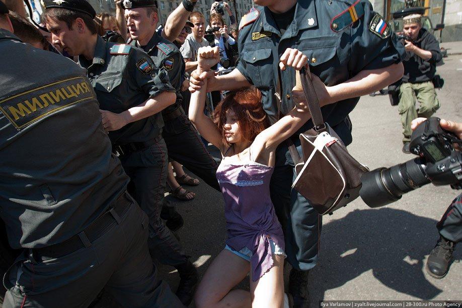 Московский гей-парад. ФОТО.