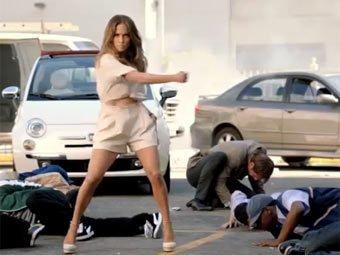 Дженнифер Лопес станцевала в рекламе кабриолета Fiat