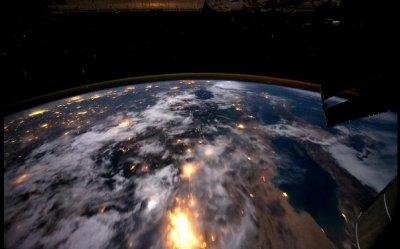 Земля с орбитальной станции