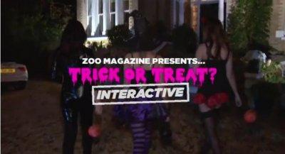 Trick Or Treat. Интерактив на раздевание на Хеллоуин