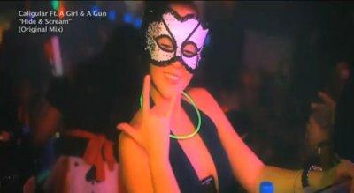 Skrillex и Caligular на Хэллоуин пати в клубе Mynt Ultra Lounge в Miami Beach