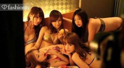 Видео с фотосессии японских моделей