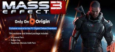 РС-версия Mass Effect 3 будет требовать наличия Origin