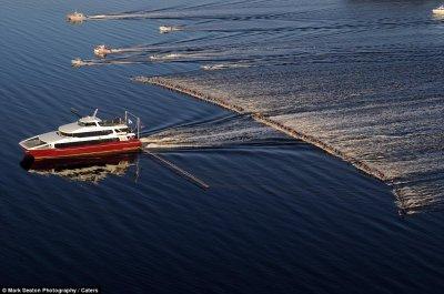 Новый мировой рекорд – один катер, 145 воднолыжников