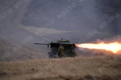 Новая реактивная система залпового огня (РСЗО) грузинского производства.