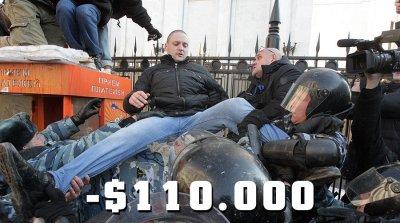 Штраф $110.000 за несанкционированный митинг