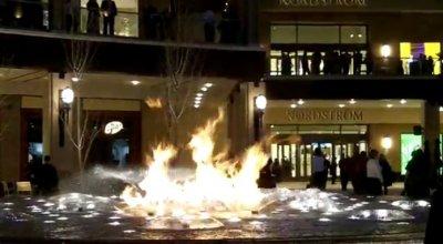 Фонтан с огнем