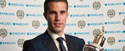 Робин ван Перси признан игроком года в Англии.