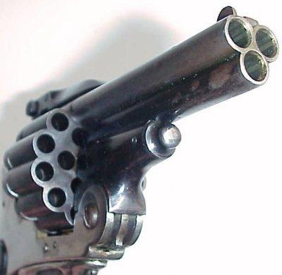 Испанский трёхствольный револьвер