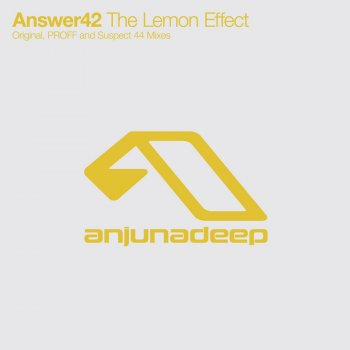 Answer42 - The Lemon Effect (Incl PROFF Remix)