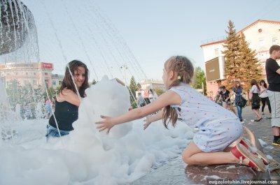 Летом в фонтане