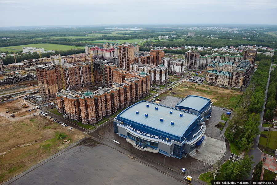 Казань с вертолёта. Объекты Универсиады