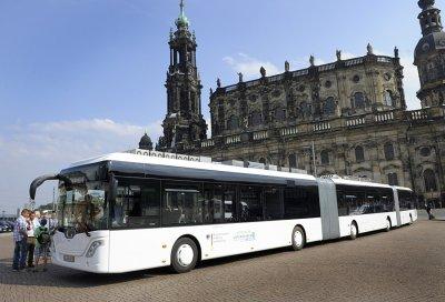 В Дрездене появился самый длинный в мире автобус