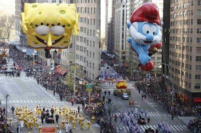 Парад огромных надувных игрушек в Нью-Йорке