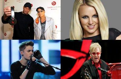 10 самых высокооплачиваемых музыкантов 2012 года