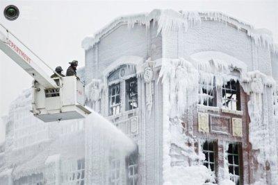 Ледяное пожарище в Чикаго