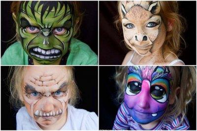 Пугающий бодиарт на лицах любимых детей