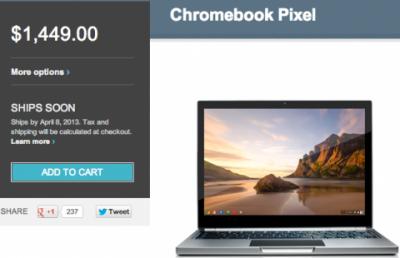 Chromebook Pixel LTE вышел в продажу