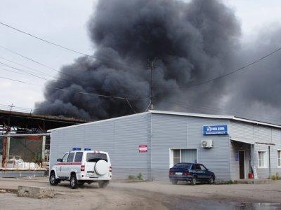 Пожар на складе в Чебоксарах