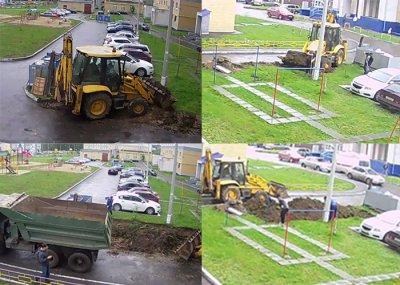 Незаконная парковка во дворе