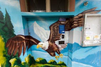 Подъездная живопись в Москве