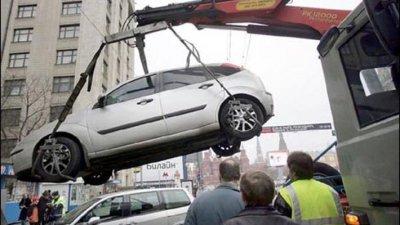 Неправильно припаркованые автомобили теперь будут эвакуировать круглосуточно